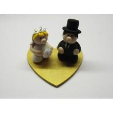 Bride & groom on heart base