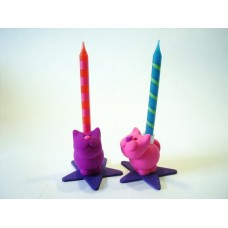 Little cat - birthday candle holder.