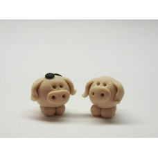 Little pig key ring